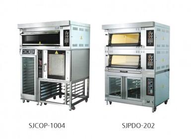 제품특징 및 사양 / SJPDO-202  -  상부 2단은 오븐, 하부는 발효실로 구분되어 있습니다. - 발효 및 굽기를 동시에 할 수 있어 냉동생지 전문점 등 체인점포에 적합한 오븐입니다. - 각종 빵, 케이크, 파이, 바게트 등 모든 제품의 생산이 가능합니다. - 좁은 공간에 설치 가능하므로 소형 점포에 유리합니다.                                                                                            제품